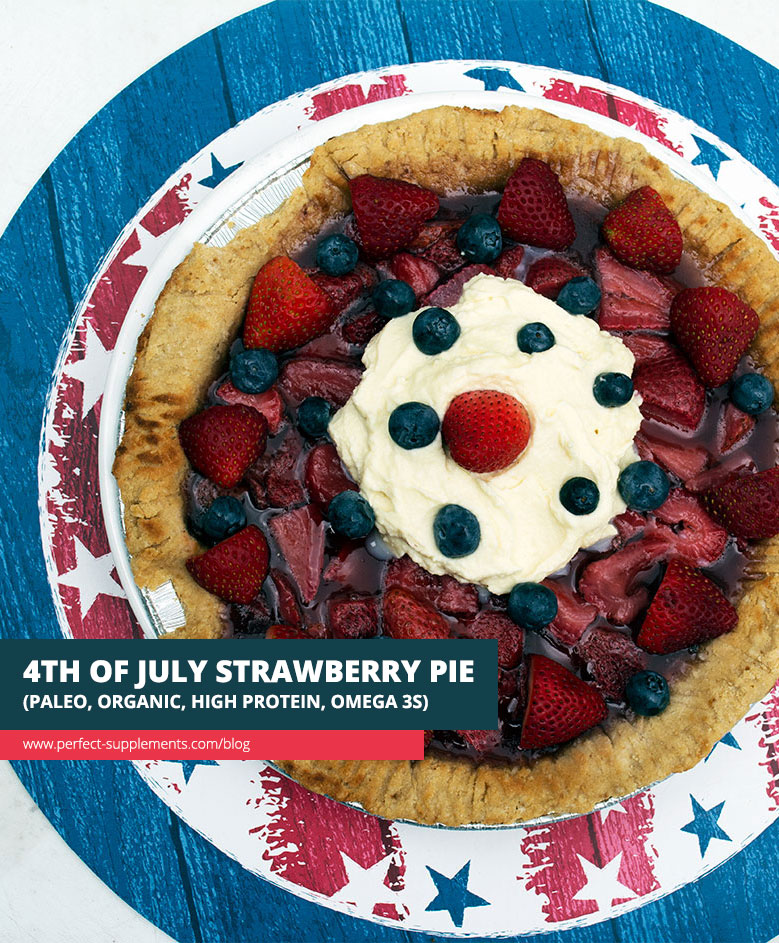 4th Of July Strawberry Pie- Healthy Recipe With {High